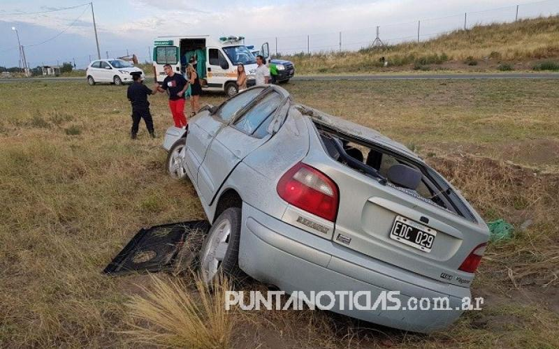 Regresaba de Monte Hermoso y se accidentó en la ruta 249