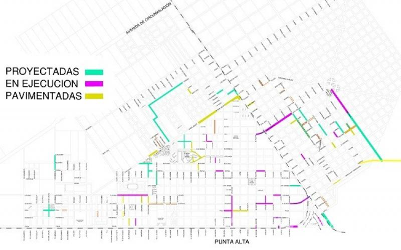 El municipio comunic cules son las calles pavimentadas cules en en el siguiente artculo acompaado de un mapa donde el estado de obras se diferencia con colores se puede conocer cules son las calles que se altavistaventures Choice Image
